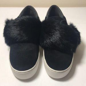 Michael Kors Fur Platform Sneakers